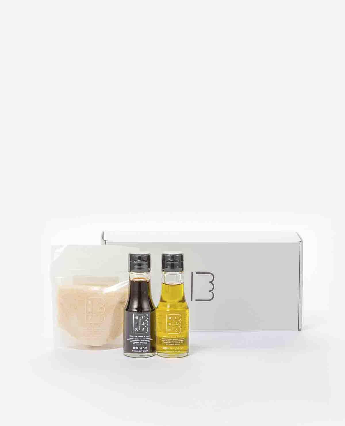 燻製しょうゆ・燻製オリーブオイル・燻製岩塩セット