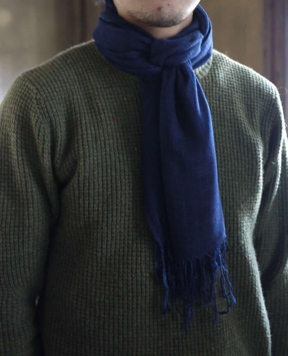 インディゴのボタニカルストール「特濃色」(DEEP DYE)