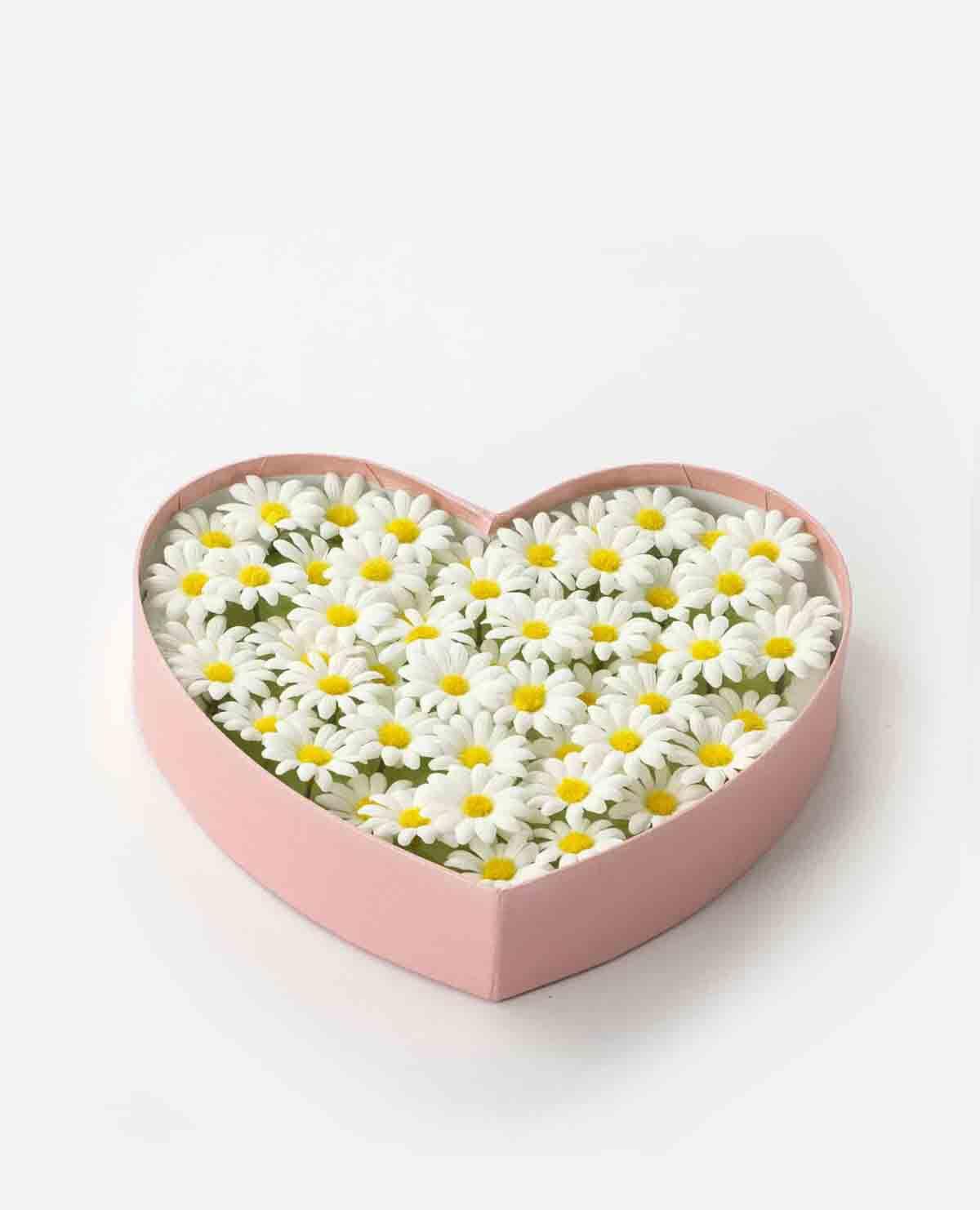 花 入浴剤 マーガレット ハート ボックス