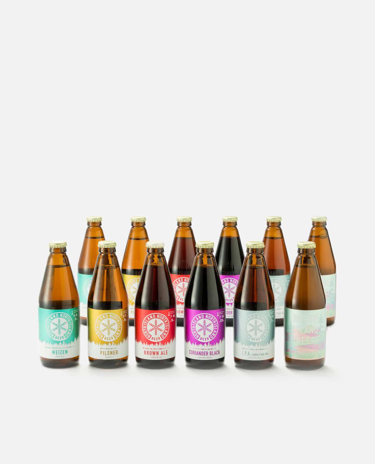 ノースアイランドビール クラフトビール6種飲み比べセット(季節のビール2本を含む12本入り)