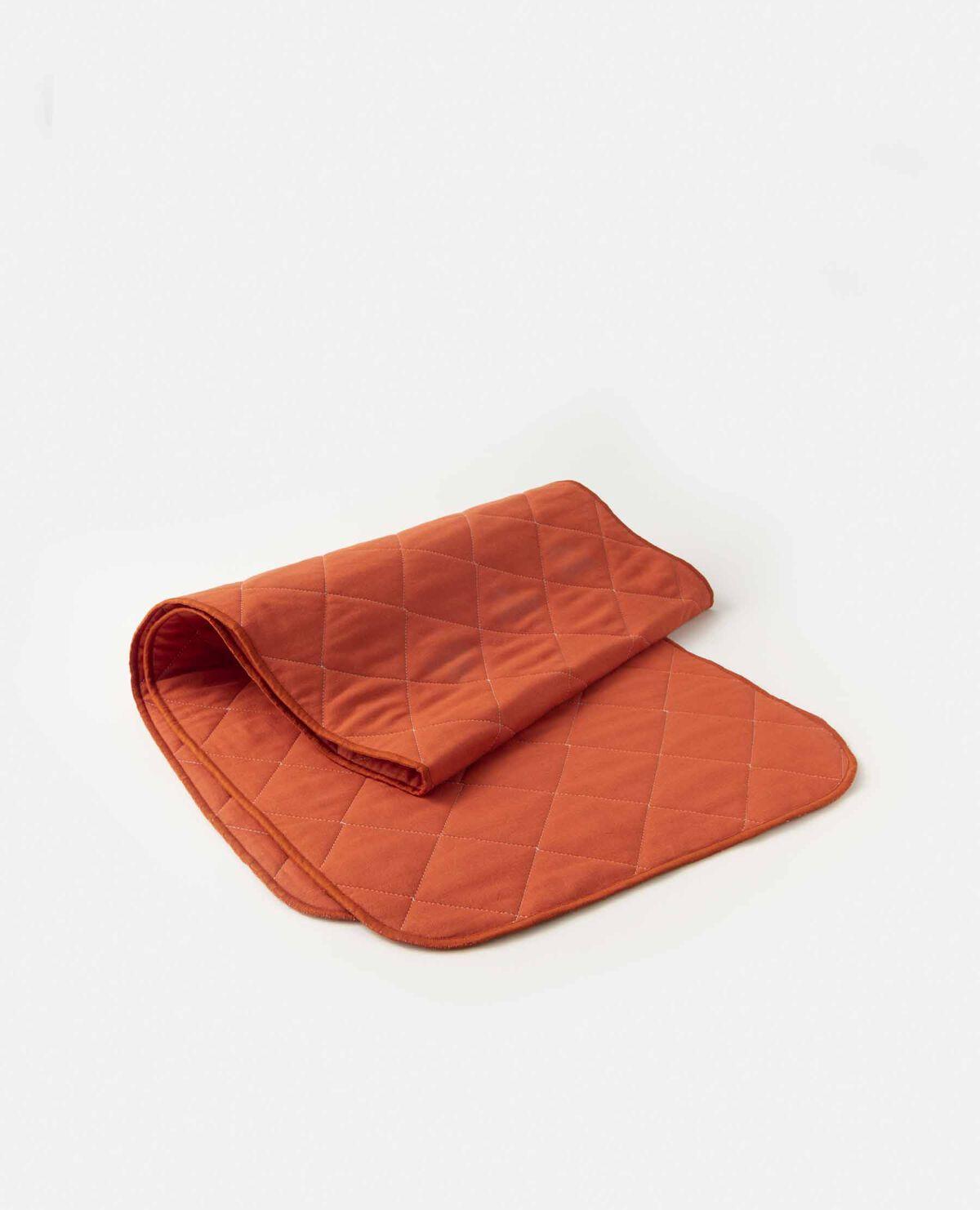 脱脂綿とガーゼのタオル オレンジ