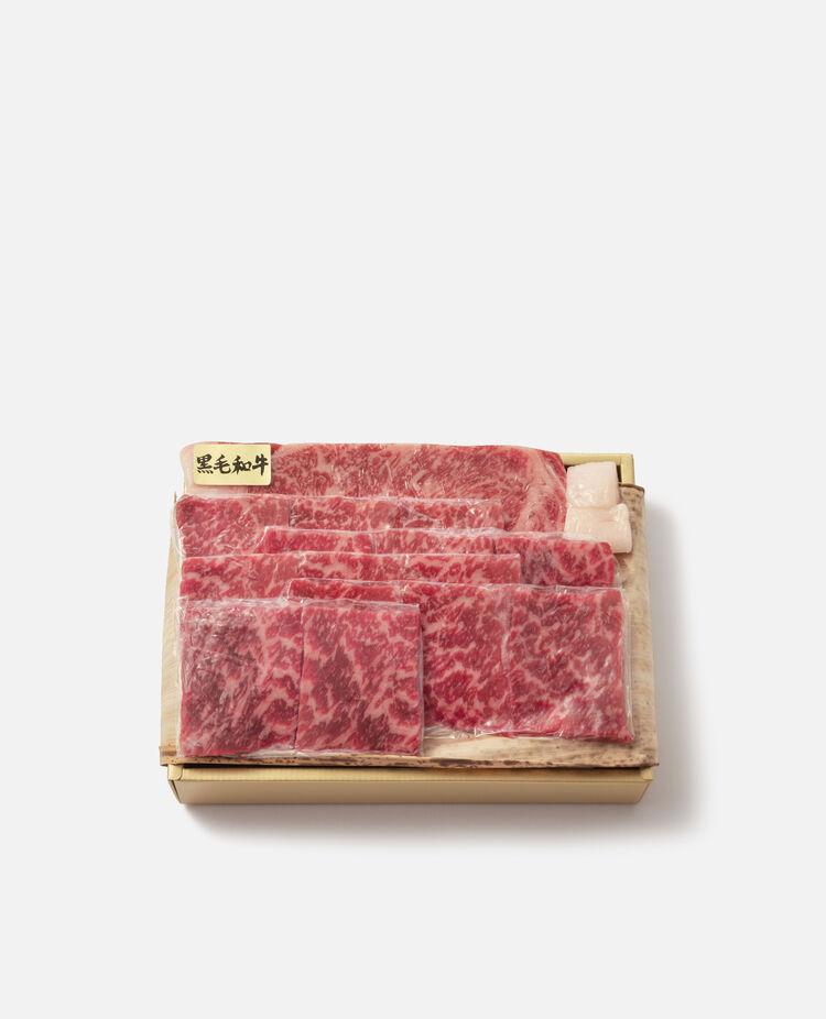 国内産黒毛和牛ステーキ用・焼肉用詰合せ アイズミートセレクション