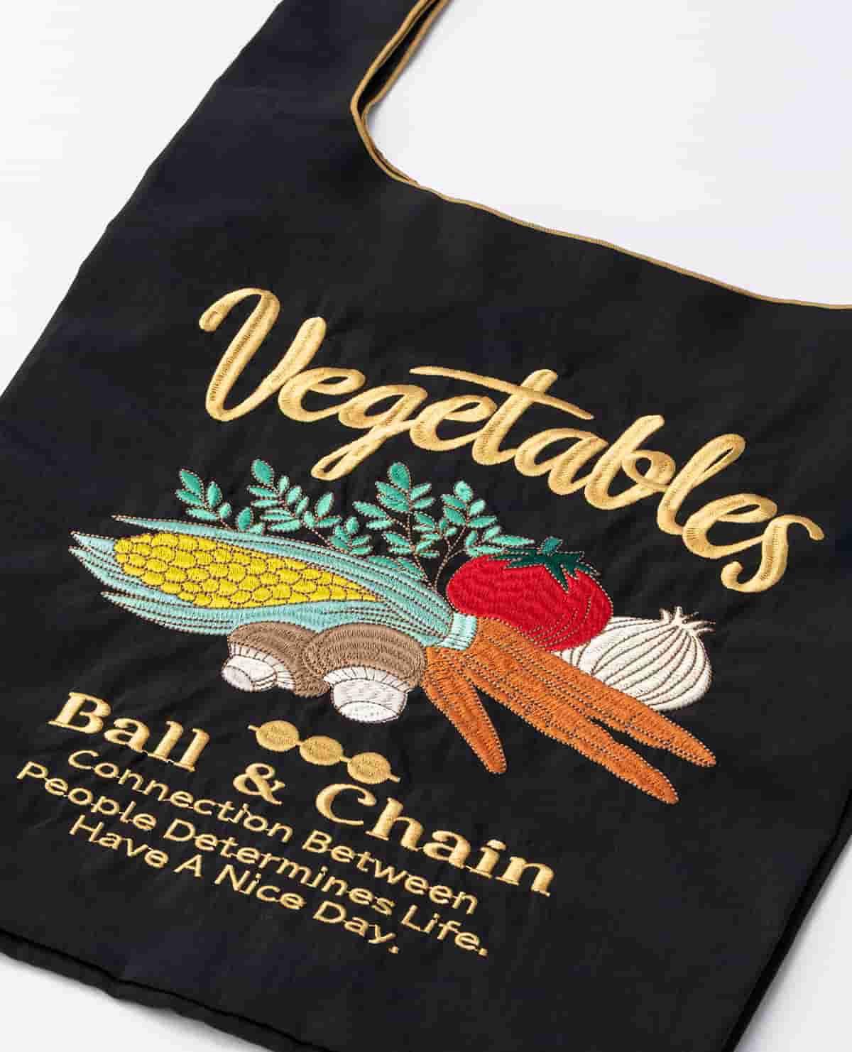 エコバッグ ベジタブル 野菜 ブラック