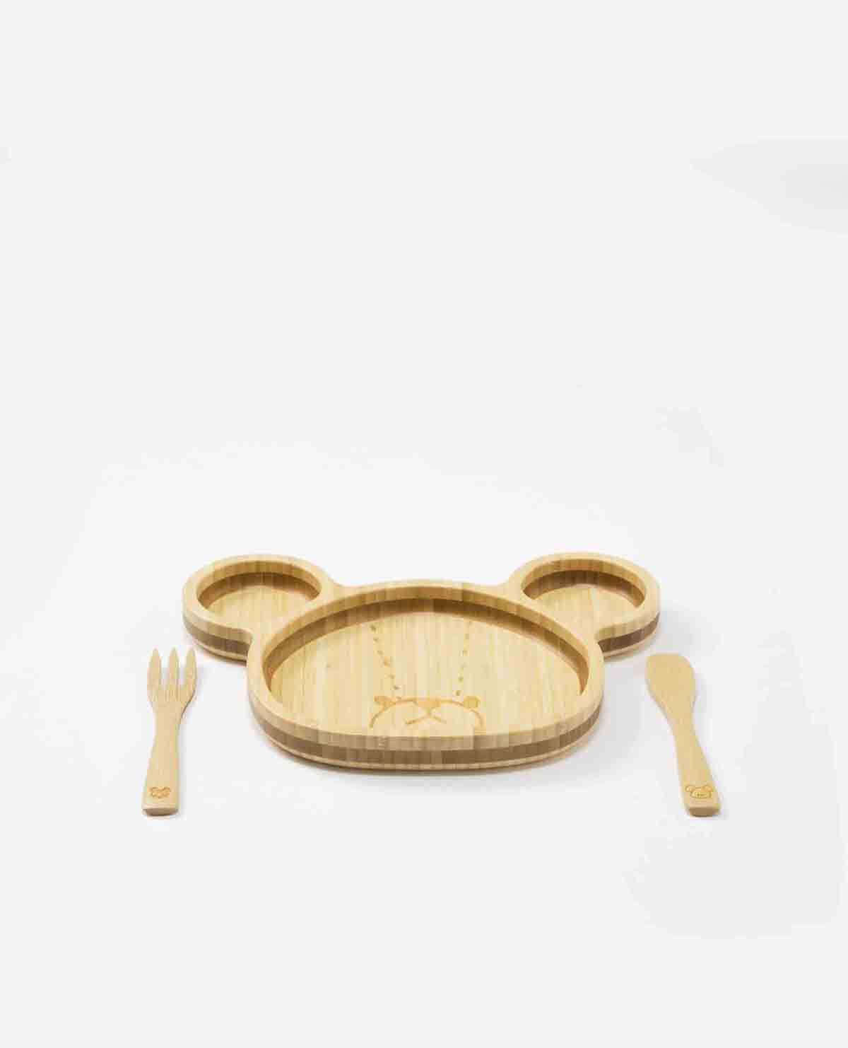 ジャッキー ランチ プレート セット ベビー食器 木製 竹