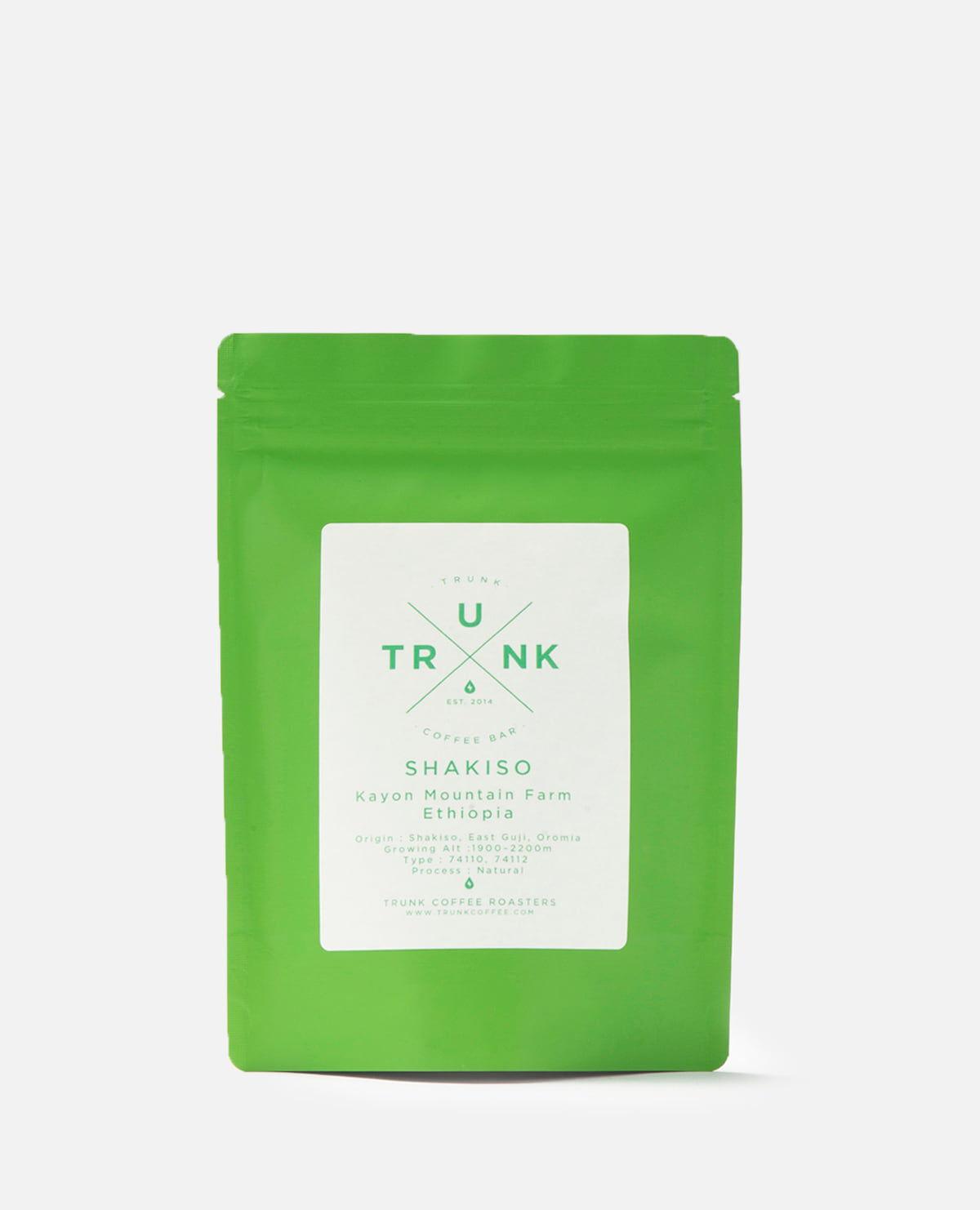 コーヒー豆・エチオピア ナチュラル精製 シャキソ 250g