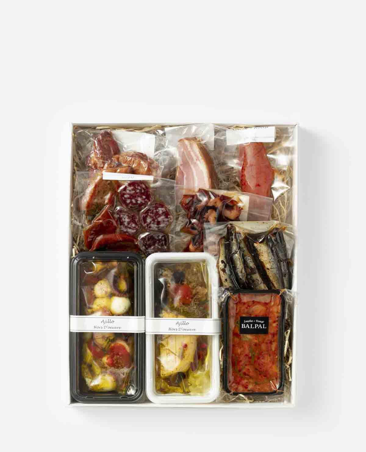 肉と魚のおつまみセット