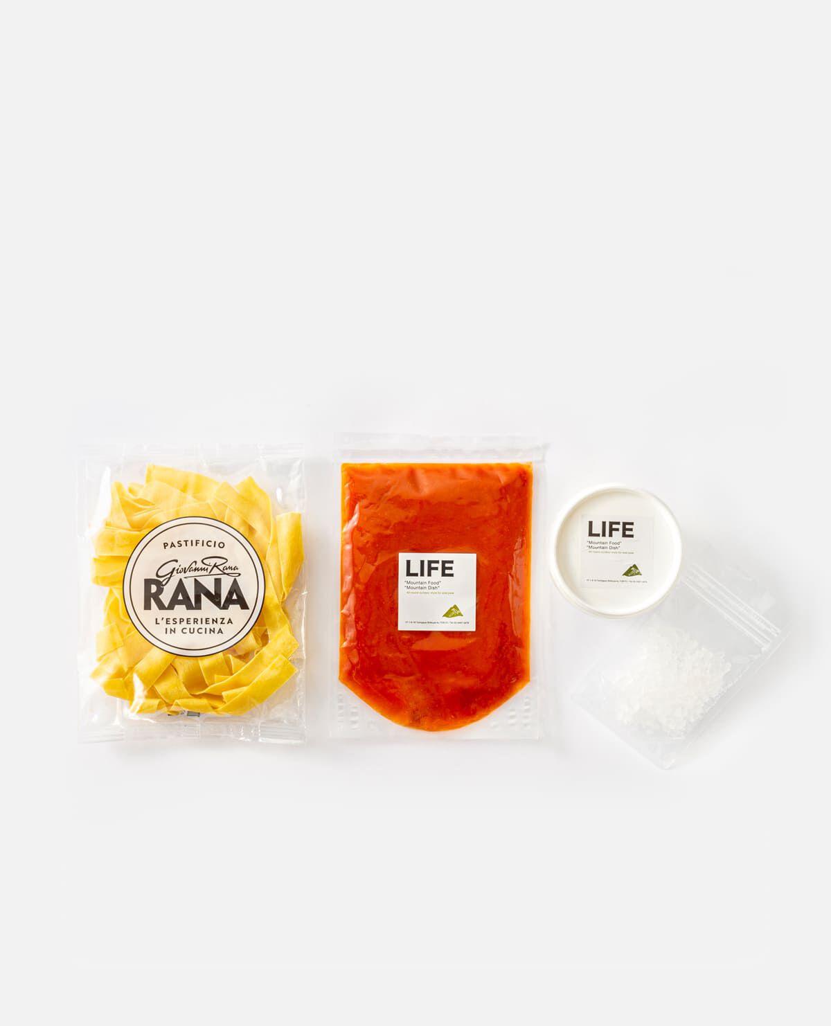 イタリアンミールセット(トマトソースパスタとブッラータチーズのセット)2人前 LIFEのお取り寄せ