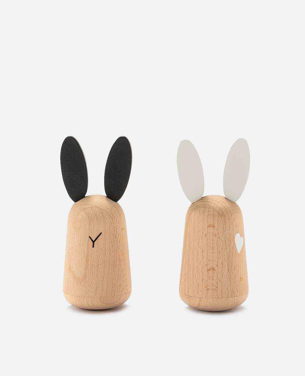 ウサギ おもちゃ 玩具 がらがら ラトル 木製