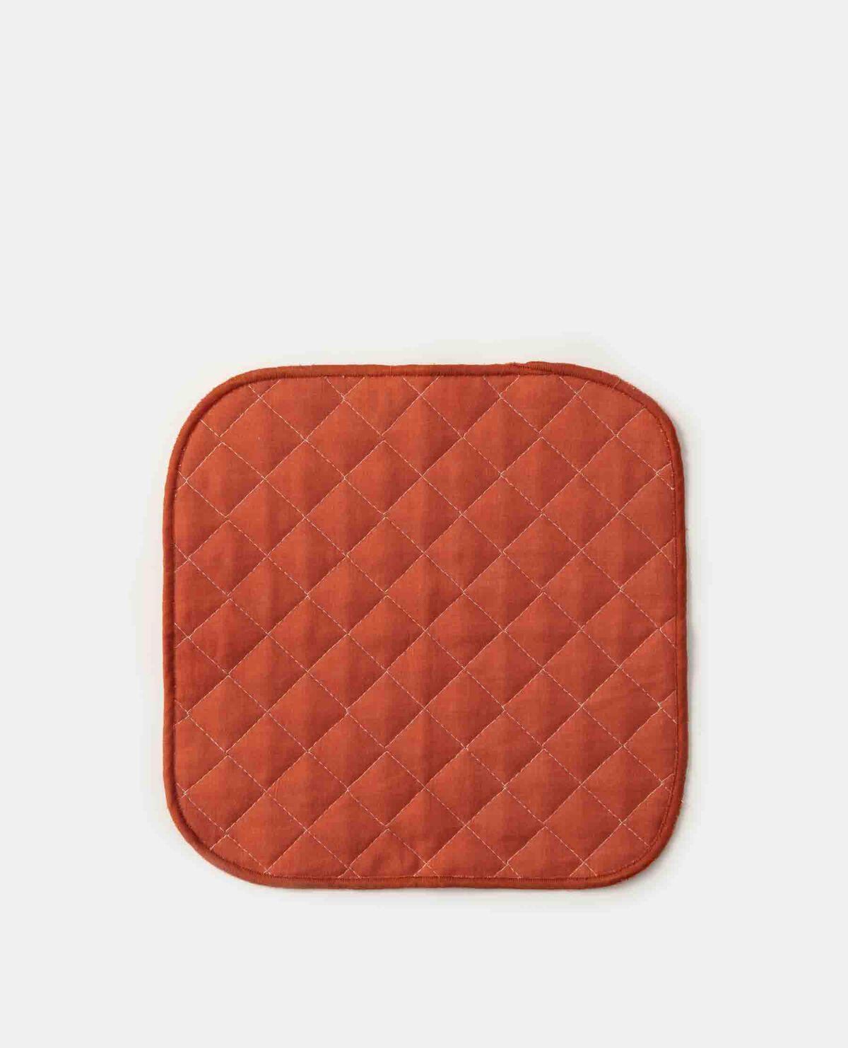 脱脂綿とガーゼのハンカチーフ オレンジ