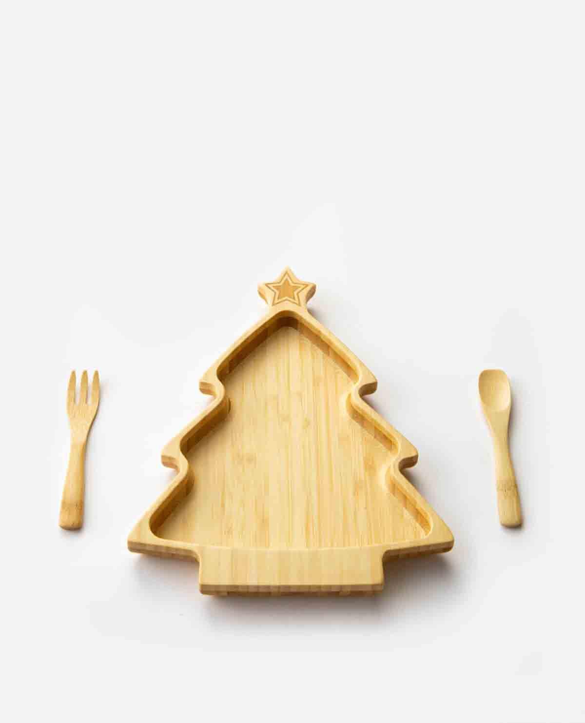 ツリー クリスマスツリー クリスマス プレートセット ベビー食器 木製