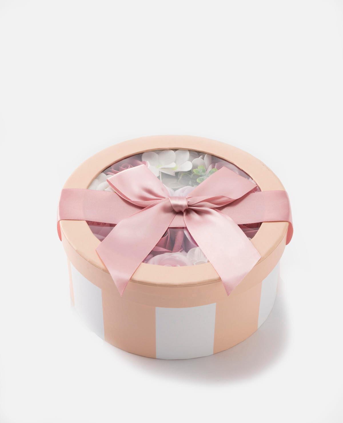 花 入浴剤 フレグランス ギフトボックス パステル ピンク