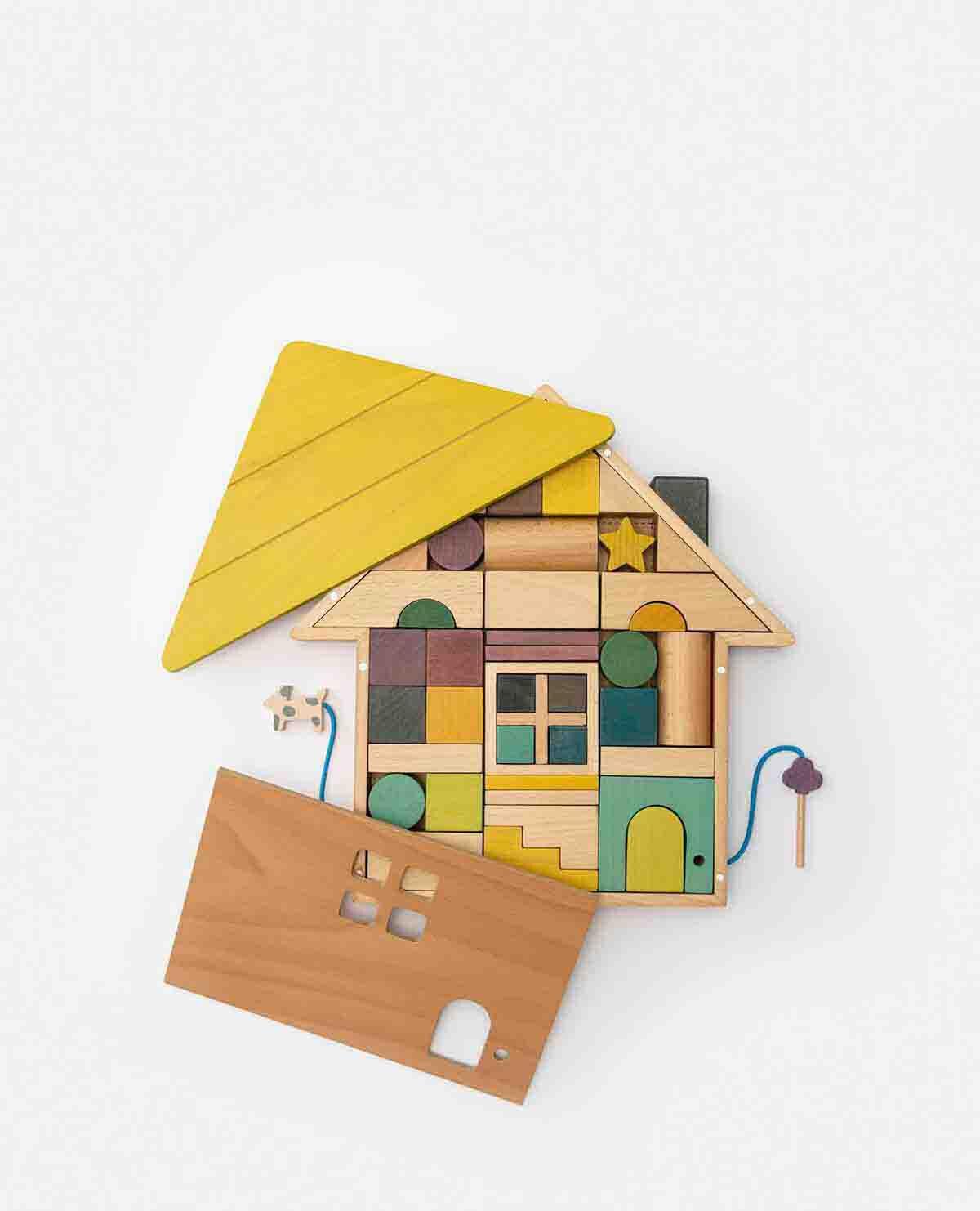 積み木 家 木製