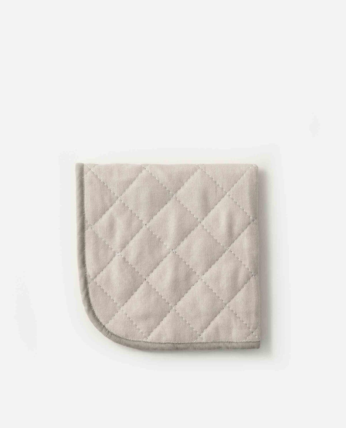 脱脂綿とガーゼのハンカチーフ グレー