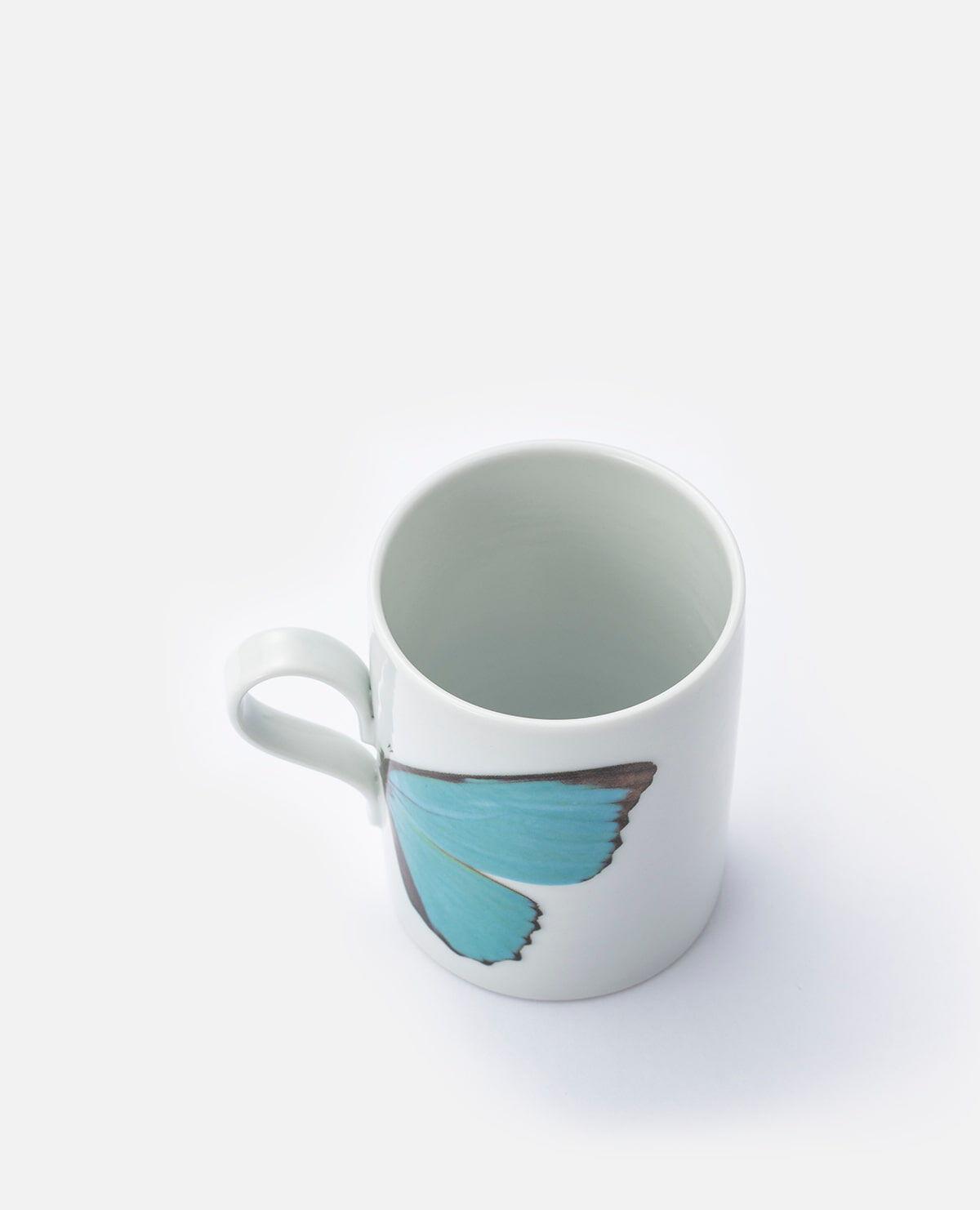 バタフライマグカップ ギフトセット ブルー&ラヴィング