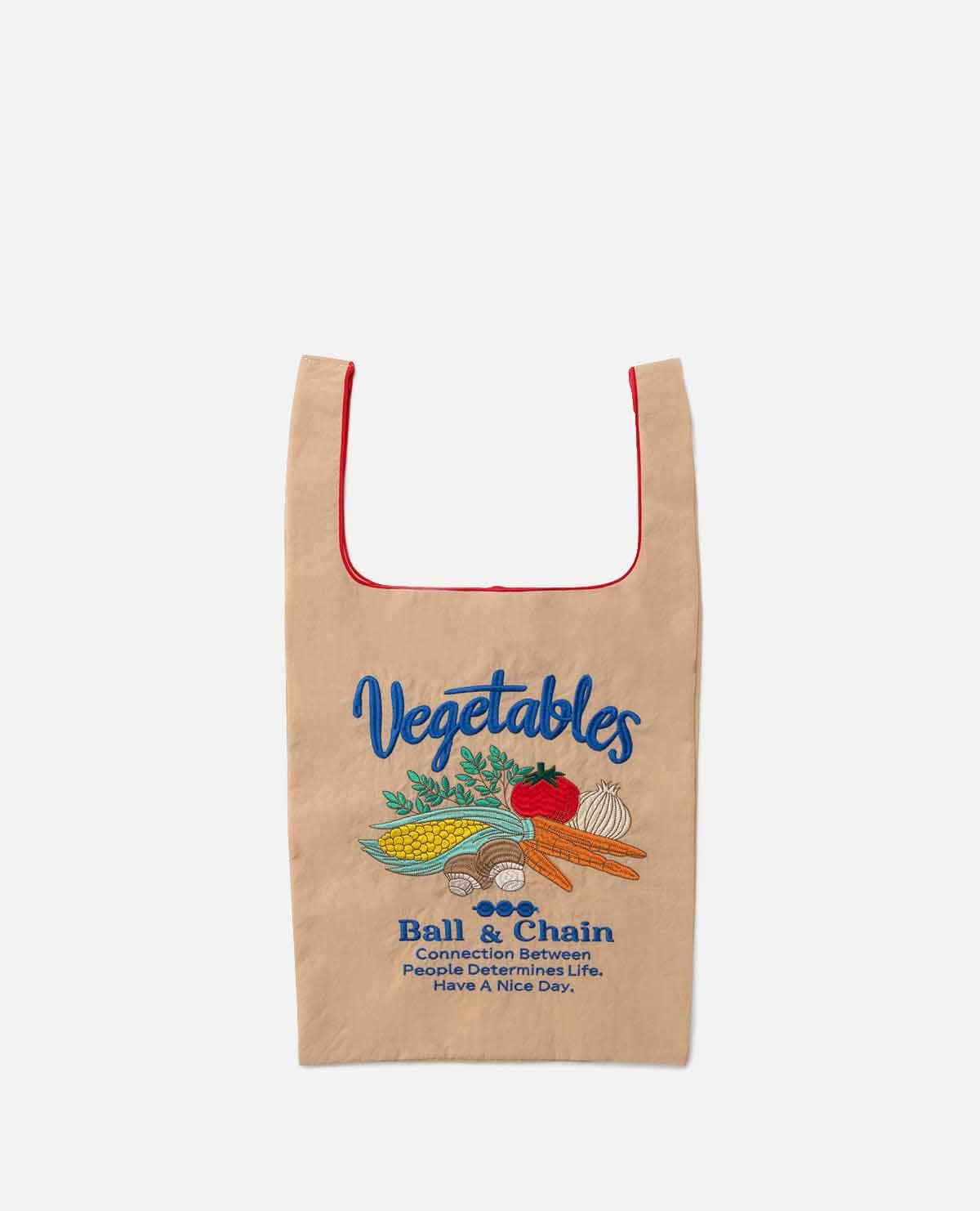 エコバッグ ベジタブル 野菜 ベージュ