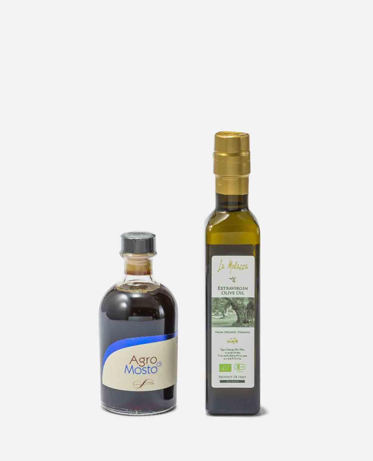 EXVオリーブオイルとバルサミコ酢セット