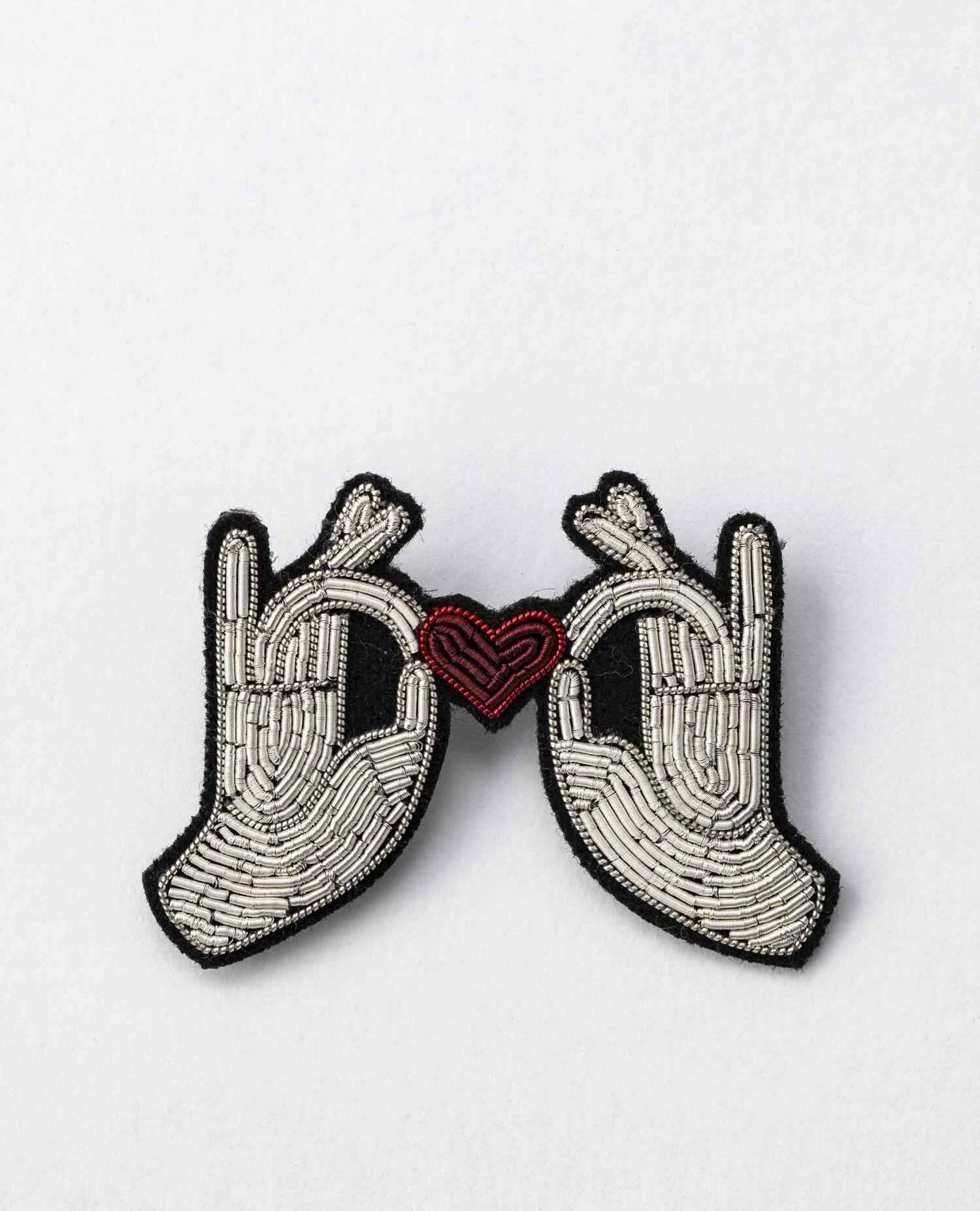 ブローチ Hands&heart