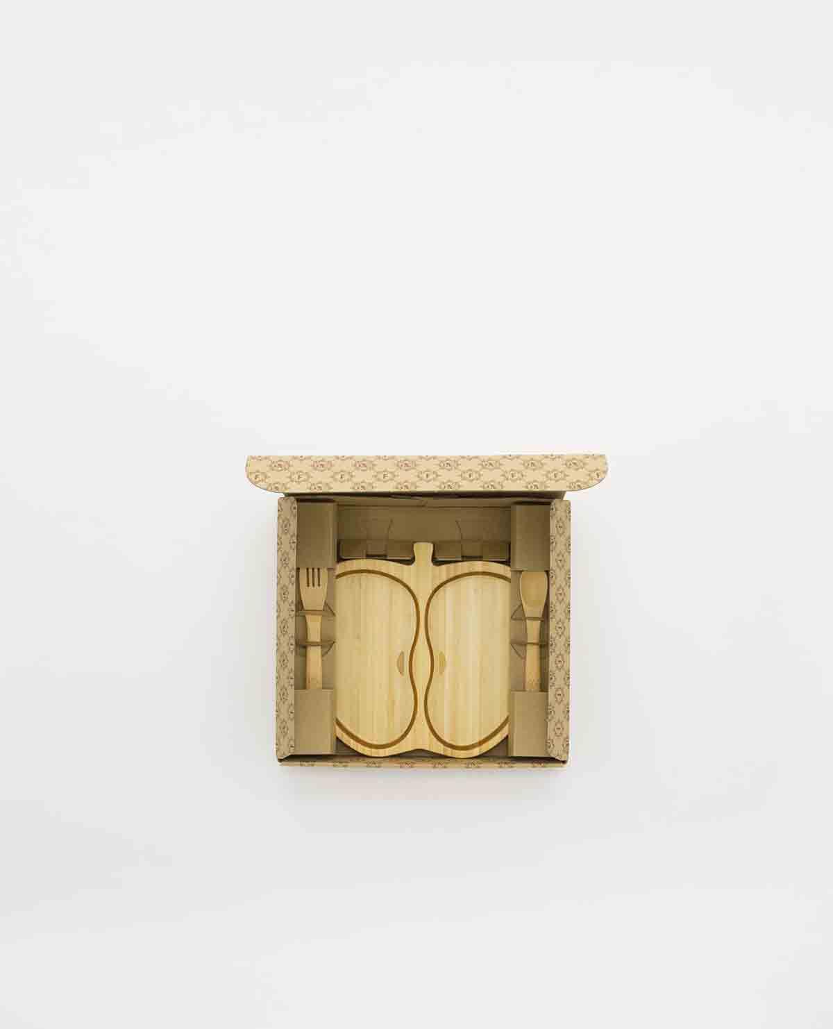 アップル プレート セット ベビー食器 木製 竹