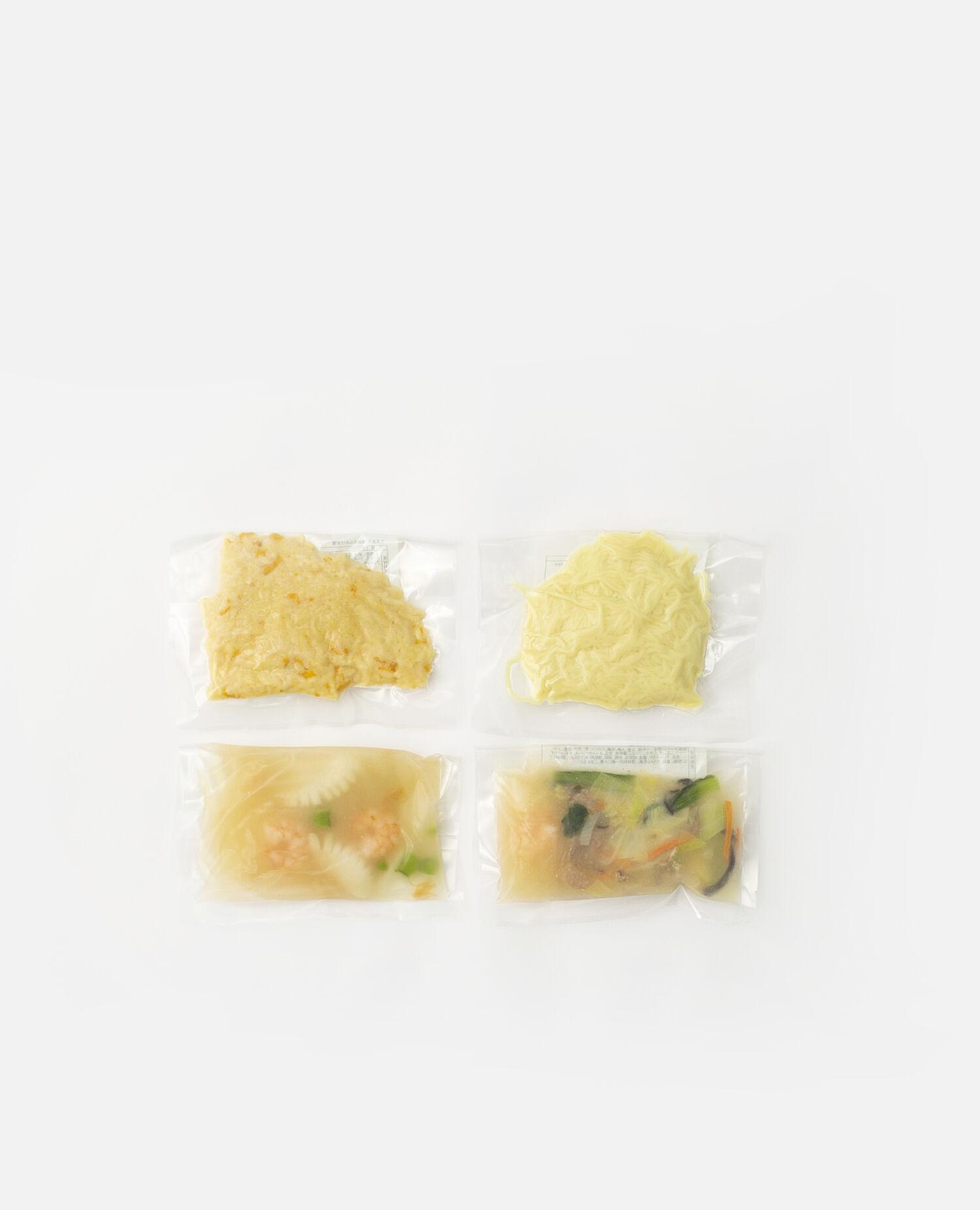 海鮮餡の炒飯&焼きそばセット