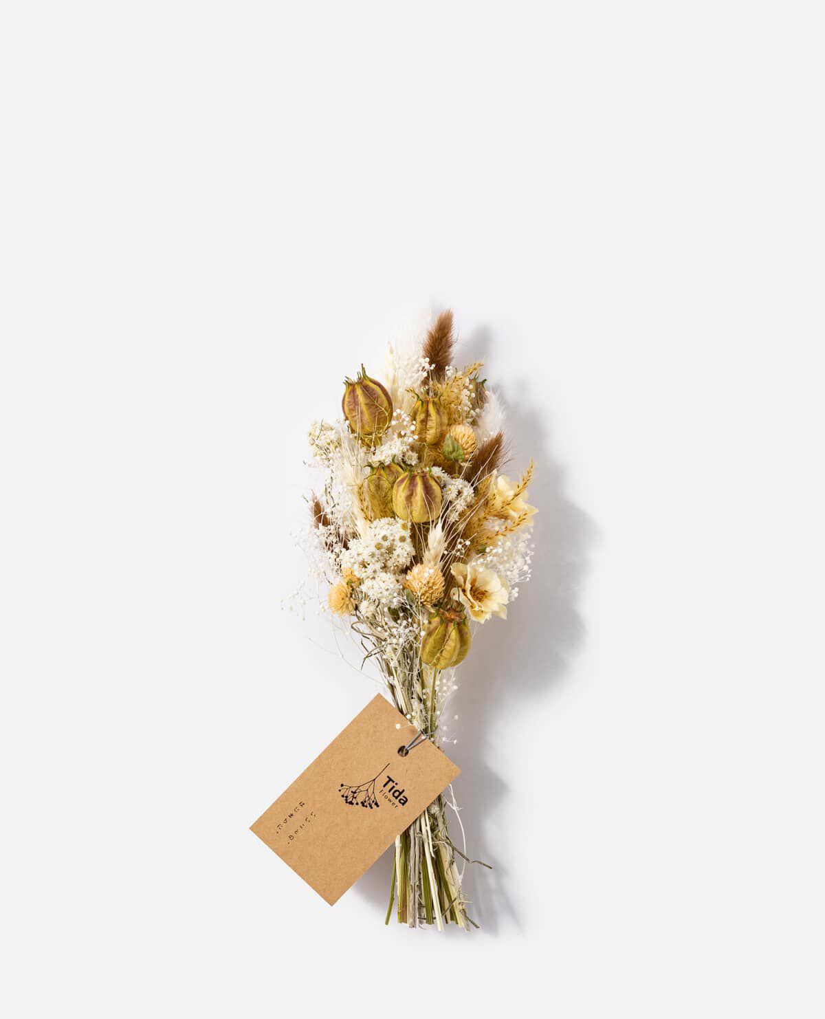 ベージュブラウンミニスワッグ花材おまかせ【5/7(金)~9(日)届け ※日付指定不可】