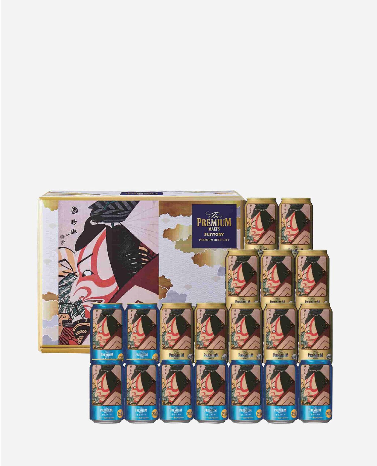 〈サントリー〉市川鰕蔵の暫(碓井荒太郎貞光) ザ・プレミアム・モルツダブルセット BPJ5MP