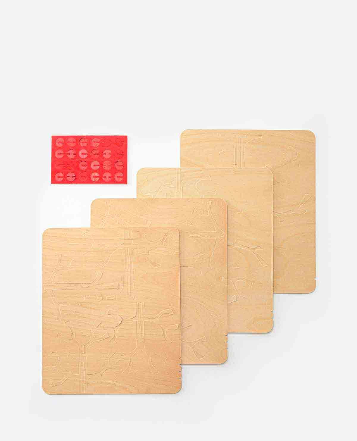 Momi-no-ki(モミの木)&ミニボール(レッド)セット 30cm