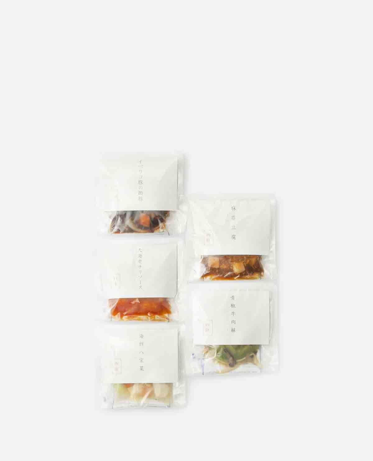 本格5種の中華料理セット