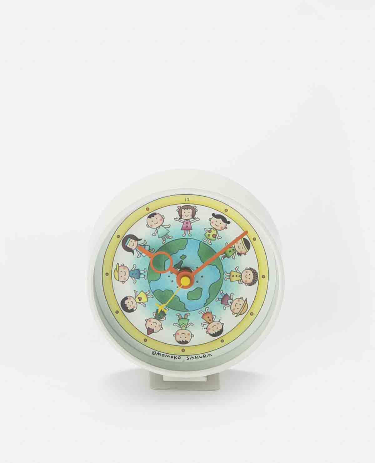 地球の子供たち クロック 時計 置き時計 ちびまる子ちゃん