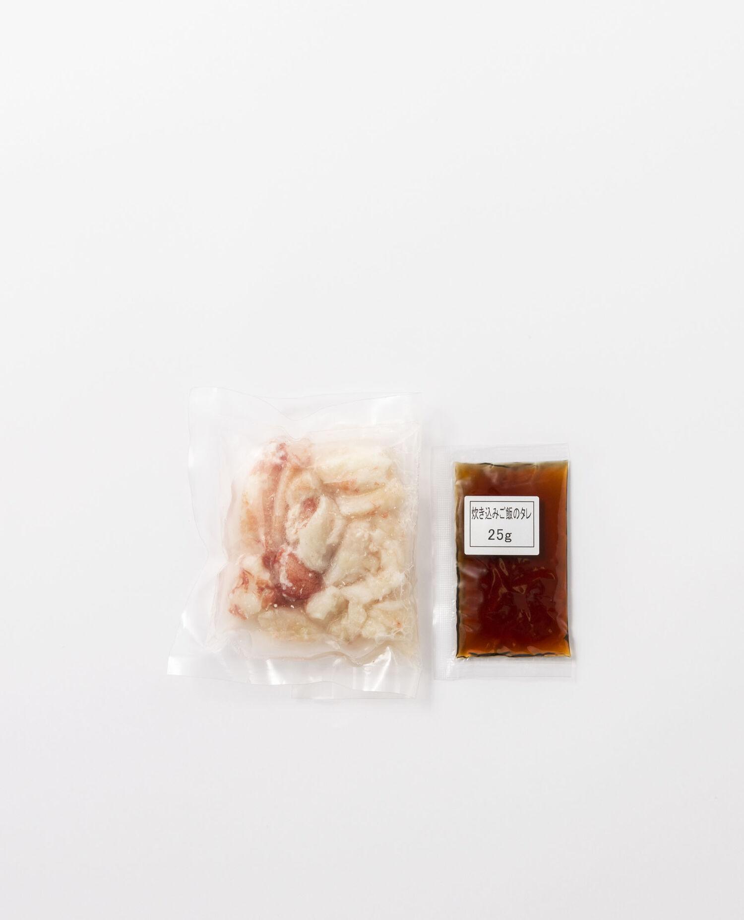 蟹の剥き身と炊き込みご飯の素セット