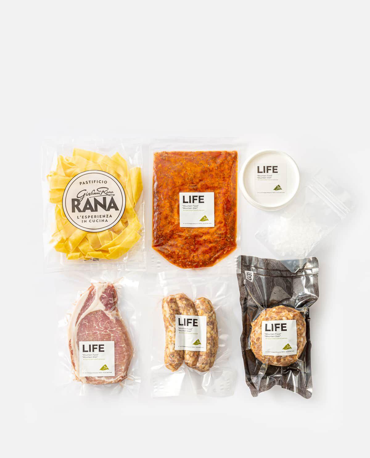 人気5種ミールセット(自慢のお肉3種とミートソースパスタ・ブッラータチーズのセット) LIFEのお取り寄せ