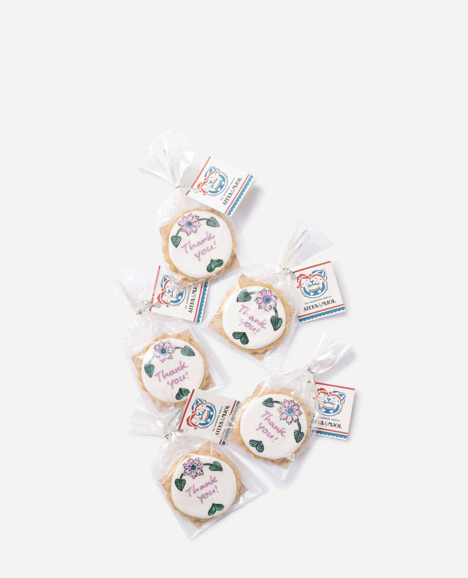 1セット 花柄 THANKYOUクッキー