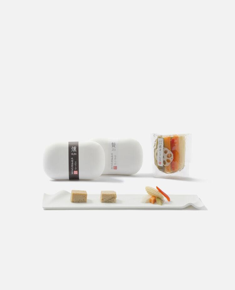 味噌漬け寄せ豆腐とヘルシーおつまみセット 銀座若菜
