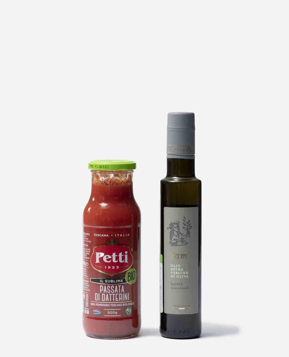 オリーブ オイルとトマトのパッサータのセット