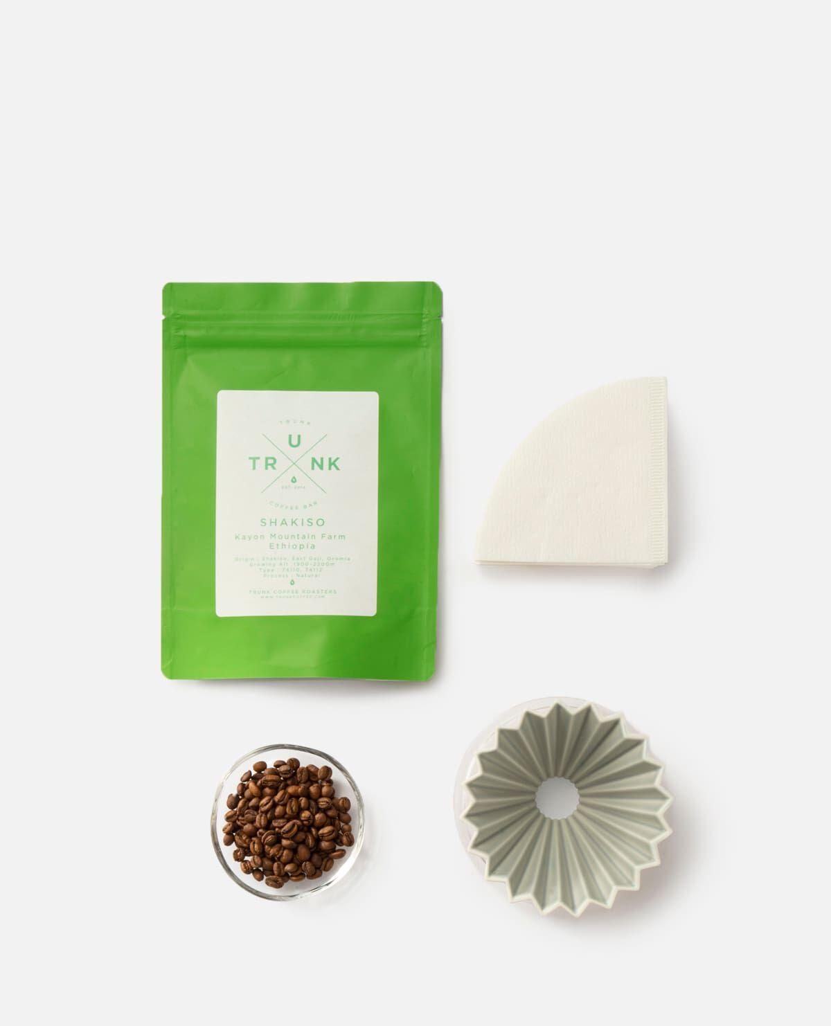 コーヒー豆&ORIGAMI ドリッパーセット マットグレー