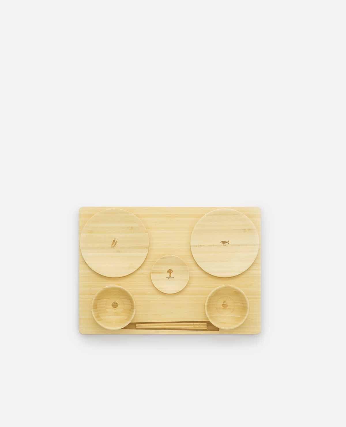 たくぜんセット ベビー食器 木製 竹 お食い初め