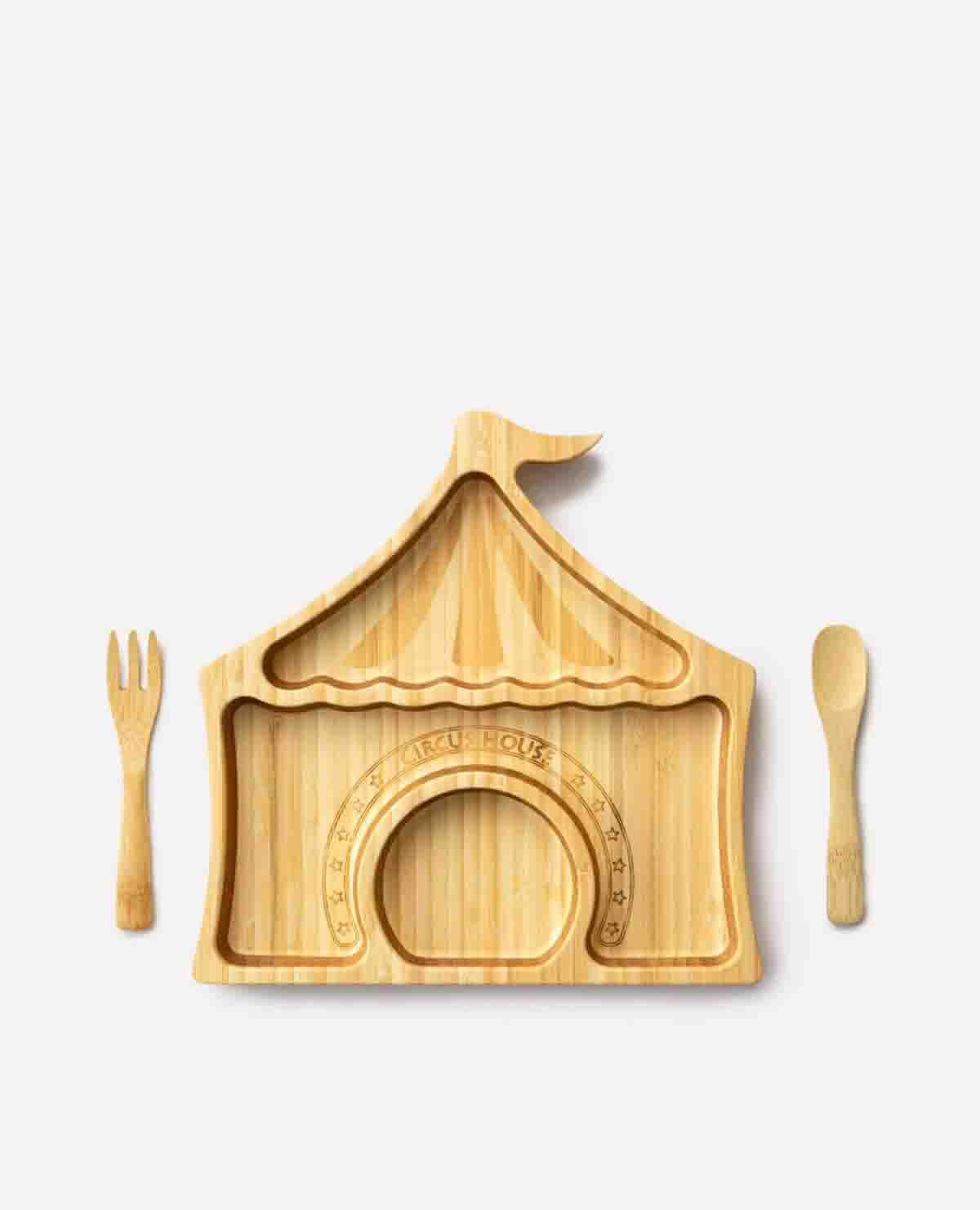 サーカス プレートセット クリスマス ベビー食器 木製
