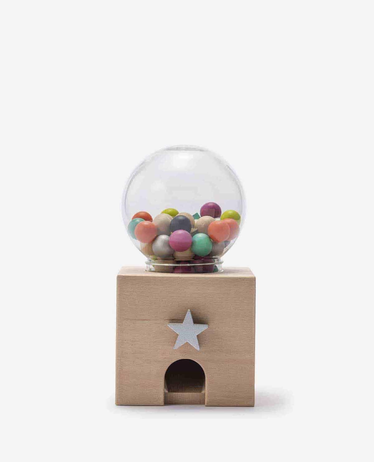 ガチャガチャ おもちゃ 積み木 木製