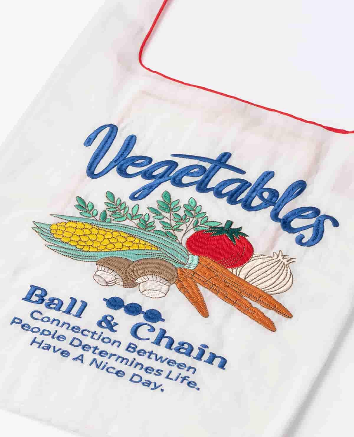 エコバッグ ベジタブル 野菜 ホワイト