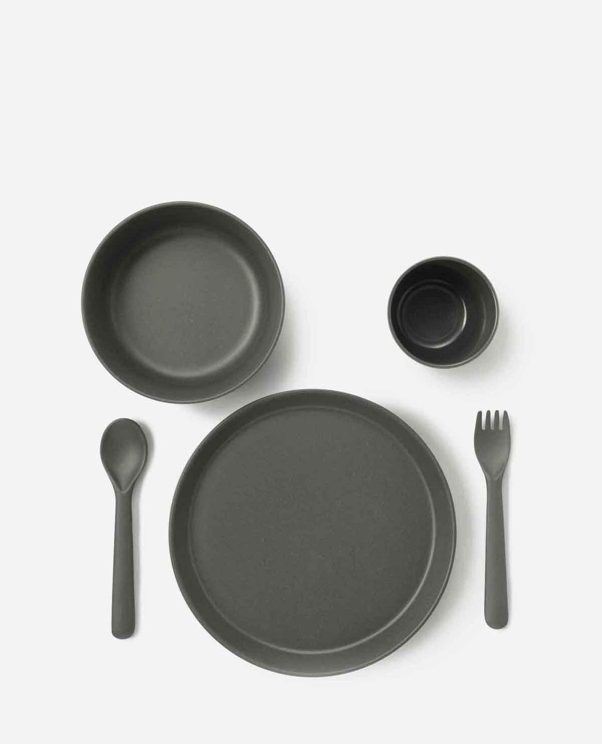 トドラー 食器 ギフトセット ダークブルーグレー