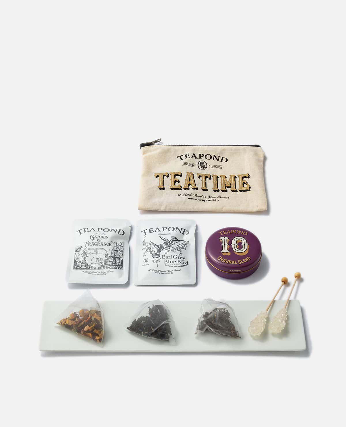 ポーチ入りティータイムセット(TEAPOND紅茶)
