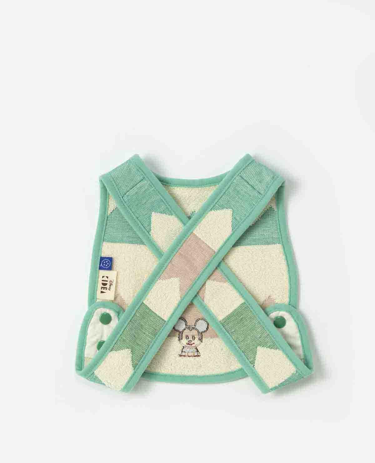 ZIGUZAGU タオルセット(フェイスタオル・スタイ・巾着) ミッキーマウス
