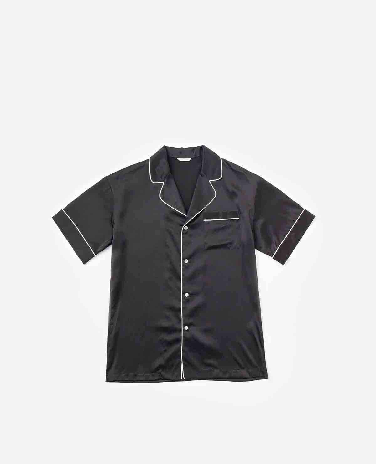 M メンズシルクパジャマ半袖&ハーフパンツBOXS